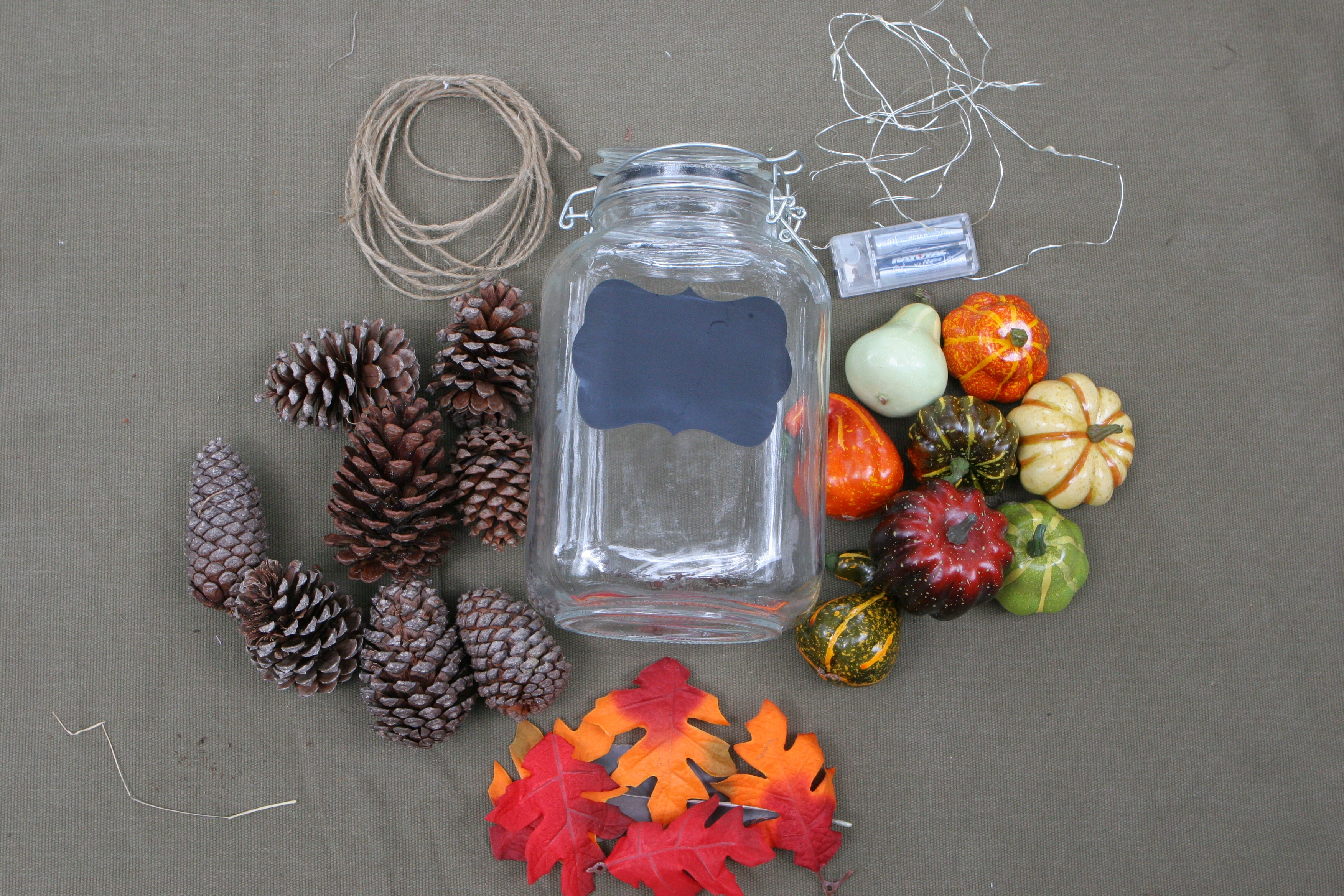 light up fall jar