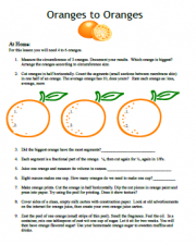 science curriculum oranges