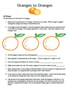 science curriculum oranges