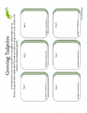 frog science curriculum log